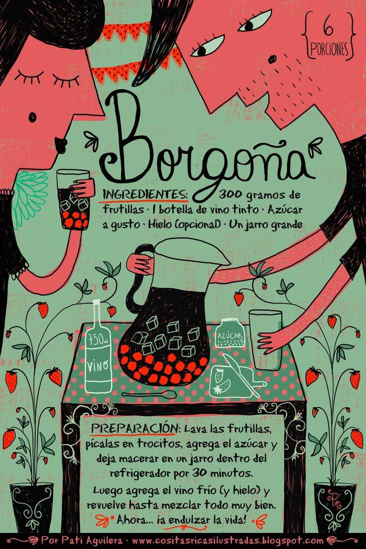 Cositas Ricas Ilustradas por Pati Aguilera: Borgoña