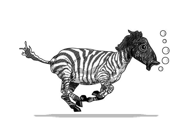 Pez cebra. #illustration #draw #graphic #editorial