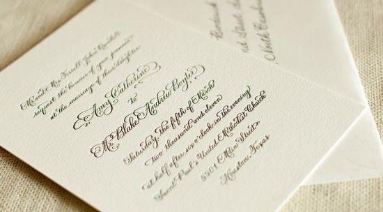 Calligraphy InvitationInvitations Classic, Calligraphy Invitations, Black And White, White Letterpresses, Atheneum Design, Invitations Ideas, Classic Black, Wedding Invitations Design, Simple Invitations