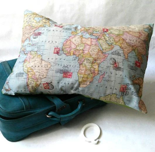 Mapa del mundo cojín mapa del mundo el mundo entero el