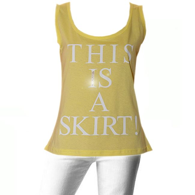 Yellow Summer Cotton Sleeveless TOP with fancy back, in the hottest colour of this summer!