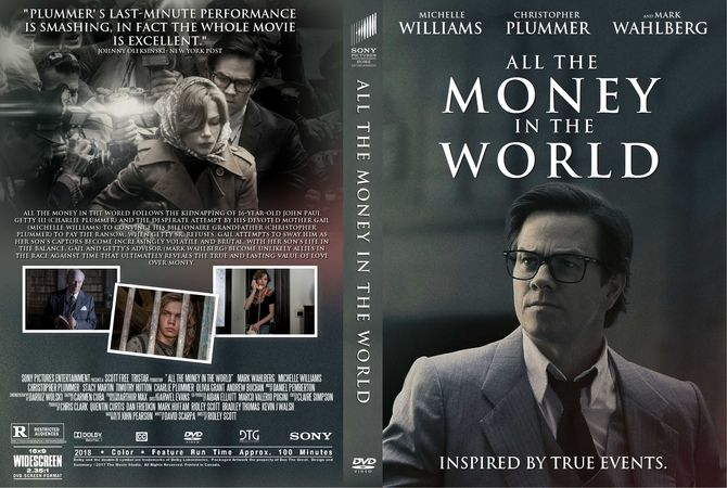 All The Money In The World 2017 Dvd Custom Cover Custom Dvd Dvd Cover Design Dvd Covers