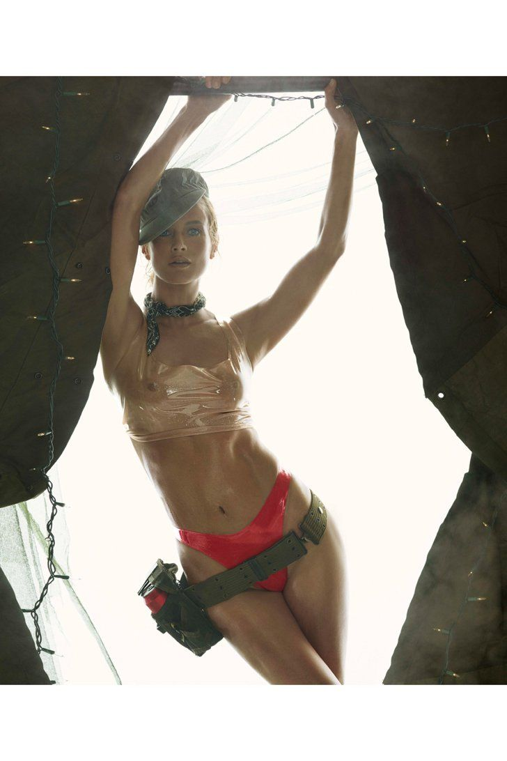 Pin for Later: The NSFW 2015 Pirelli Calendar Will Fog Up Your Screen Miss May Carolyn Murphy