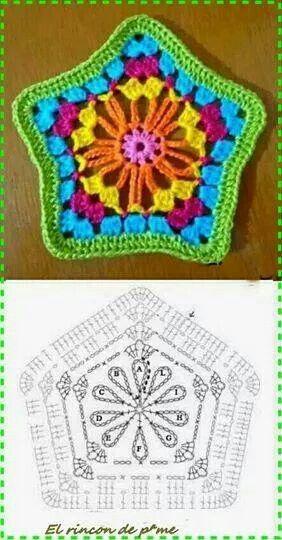 Star circle crochet pattern