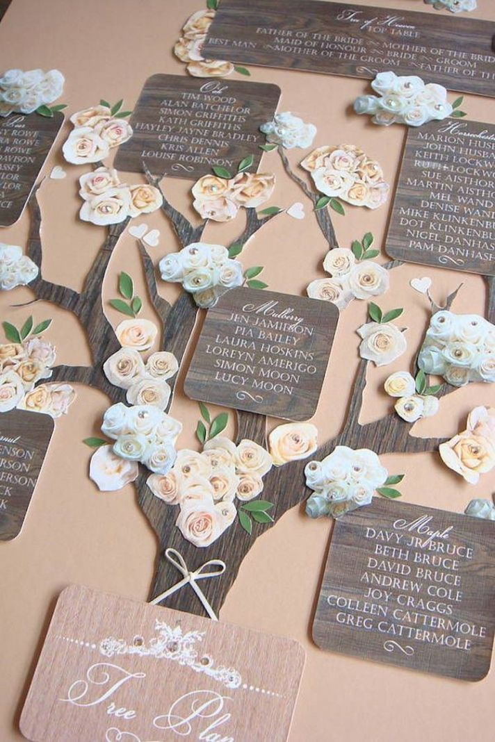 Lead Guests To Their Seats with Style with These Escort Cards    OneWed