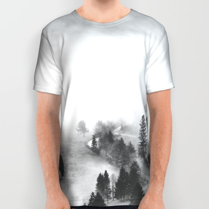 Ghostly All Over Print Shirt by Mixed Imagery | Society6
