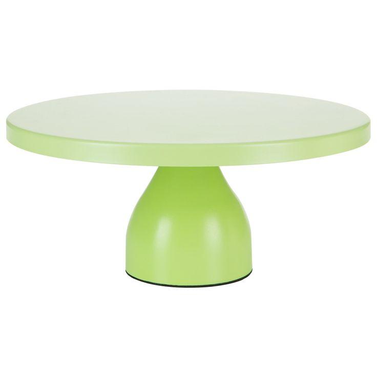 12 Inch Round Modern Metal Wedding Cake Stand (Lime Green)