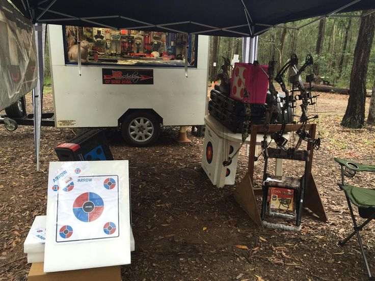 Our little set up at Hinterland Field Archers.