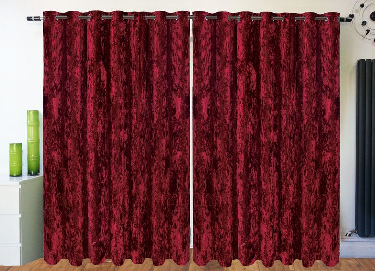 Crushed Red Velvet Movie Drapes And Curtains