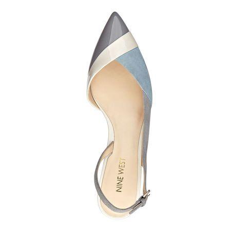 Colbrina Light Blue Kitten Heel Slingback Pumps | Nine West