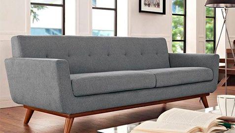 Skandinavisches Design Milton Sofa (2-Sitzer) - Stoff - Zweisitzer Sofas