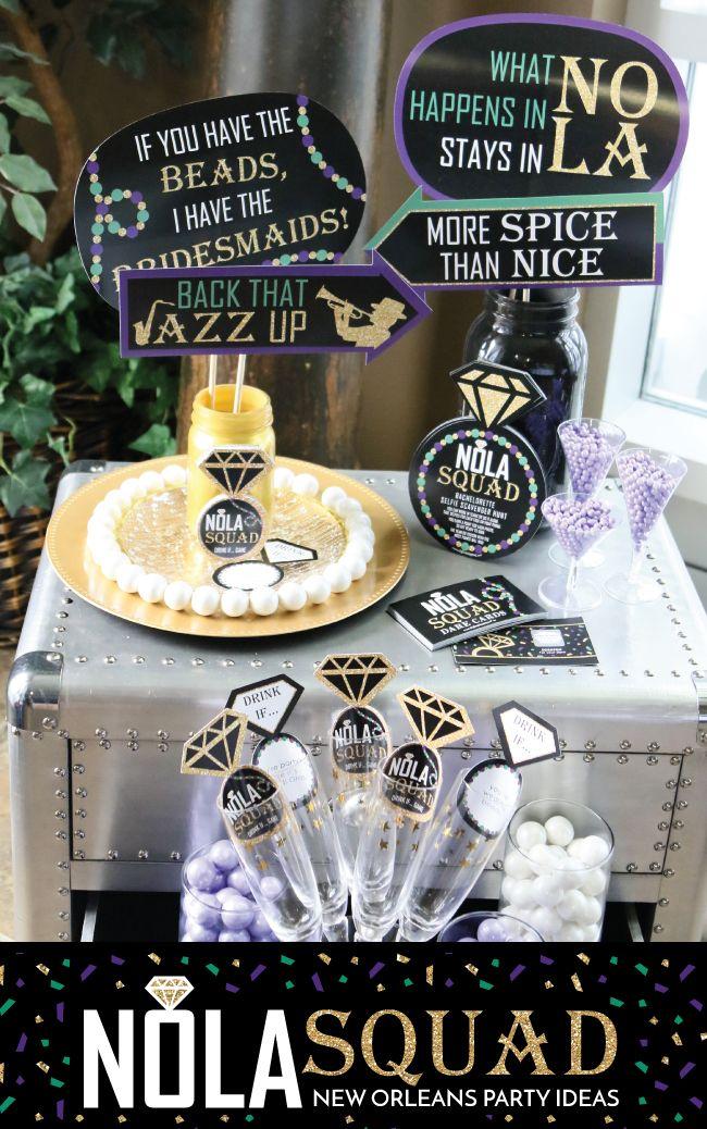 Nola Squad New Orleans Bachelorette Party Ideas Big Dot Of Happiness Nola Bachelorette Party New Orleans Bachelorette Nola Bachelorette