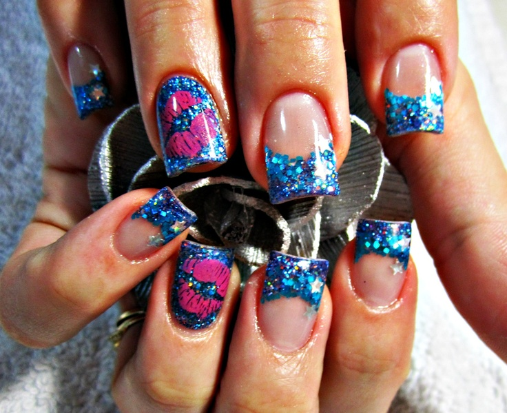 11788 best nail art ideas images on pinterest acrylics blue valentines acrylic nails prinsesfo Images
