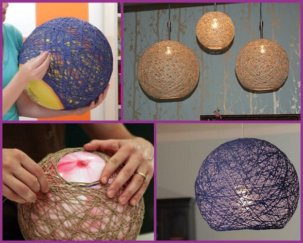 Diy Yarn Chandelier Lampshade Globe Pendant Lamp Video Yarn