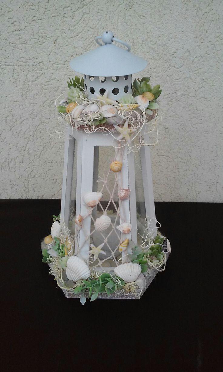 Nyár dekoráció-világítótorony (Cst.T.)