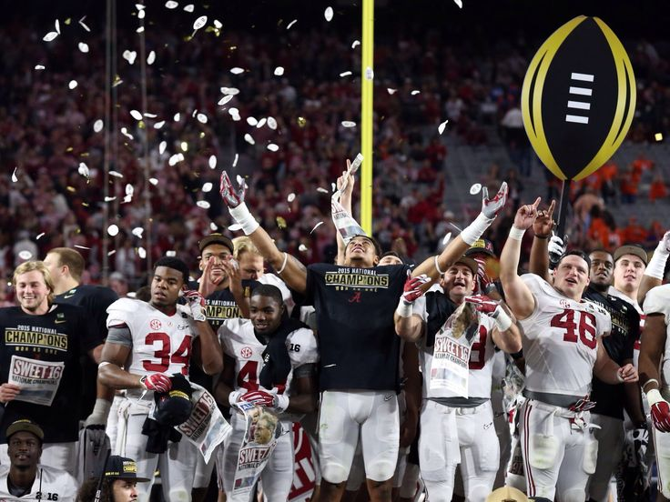 Alabama Crimson Tide, National Champions! - from USA Today - National Championship game in Glendale, Arizona Jan. 11, 2016  #Alabama #RollTide #BuiltByBama #Bama #BamaNation #CrimsonTide #RTR #Tide #RammerJammer #CFBChampionship #NationalChampionship