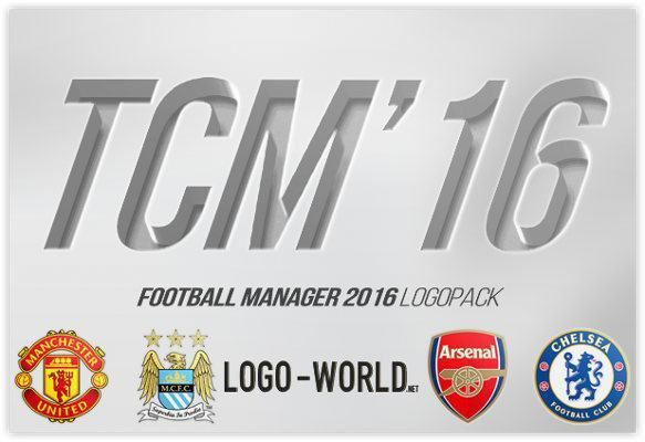 Download the famous Football Manager TCM16 logo Megapack by Logo-World.net for Football Manager 2016. Features world nations, competitions & club logos.