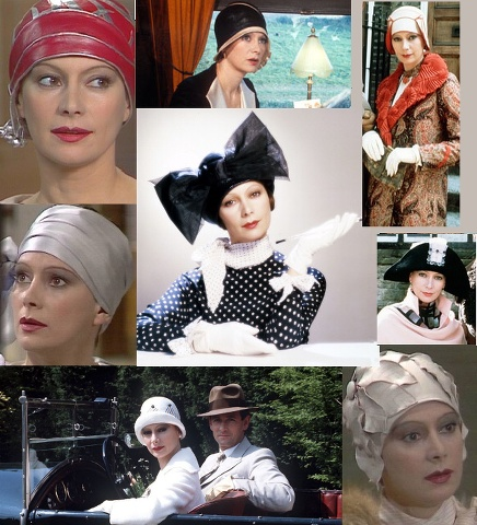 Tuppence Beresford, played here by the beautiful Francesca Annis. These are just a small sample of classic 1920s hat designs.