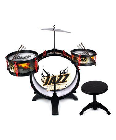 Love this Jazz Band Four-Piece Kid's Drum Set on #zulily! #zulilyfinds