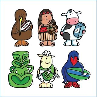 Kiwiana illustrations. My daughter has these as stickers and loves them!