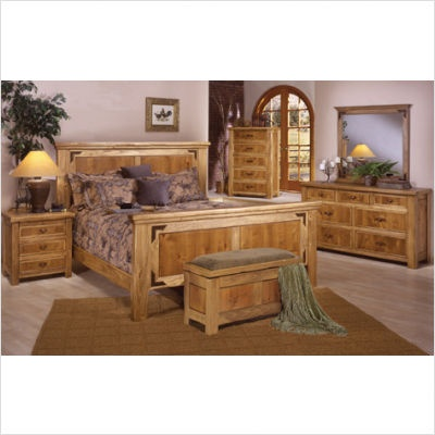 Artisan Home Furniture Lodge 100 5 Piece Bedroom Set Bed 2 Nightstands Dresser And Mirror