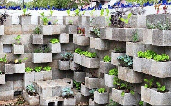Just concrete blocks!
