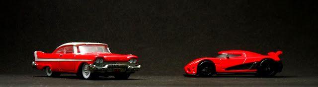 Miniaturas de Carros em Foco: Fotos em fundo escuro - Os carros dos anos 1950 a 2010