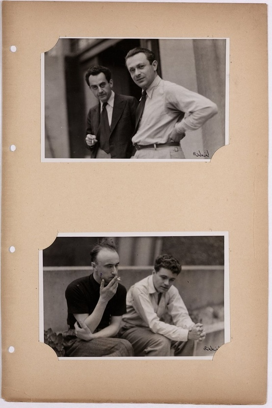 Man Ray and Tristan Tzara. Yves Tanguy and René Crevel.
