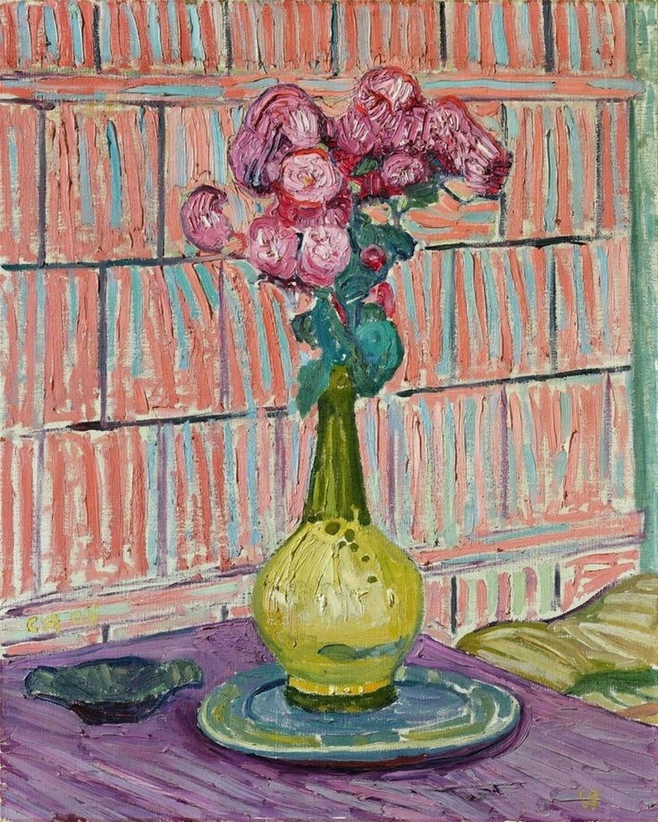 Cuno Amiet (Swiss, 1868-1961), Les roses rouges, 1908. Oil on canvas, 73.5 x 59 cm.