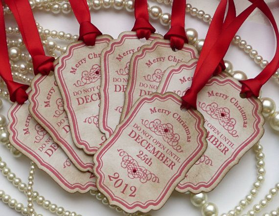 Christmas Tags 2014 Personalised Do Not Open Until by amaretto