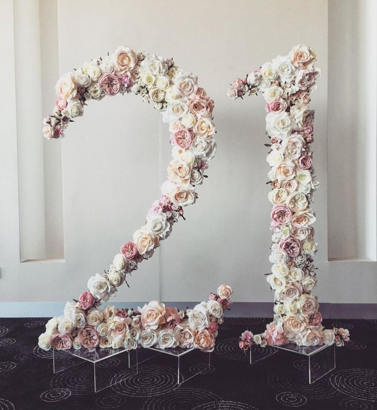 21st Birthday Party Ideas.Floral Numbers In 2019 21st Party Decorations 21st