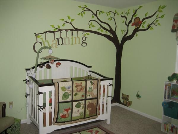 Best Baby Images On Pinterest Woodland Baby Bedding Woodland - Baby boy forest nursery room ideas