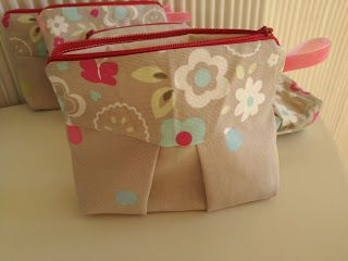 A small makeup bag