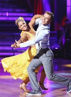 """Shawn Johnson: I'm not letting Gilles Marini beat me on """"Dancing With the Stars."""" (Adam Taylor / ABC)"""
