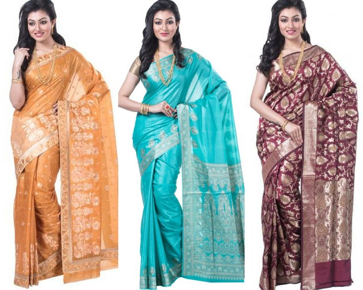 Premium Quality Pure Tussar #Silk #Sarees Online at Silk Ghar