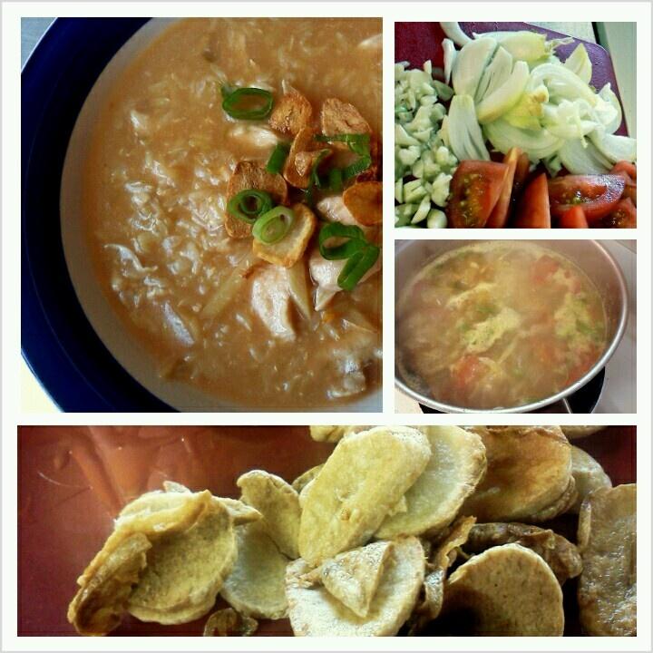 arroz caldo: Filipino chicken and rice porridge