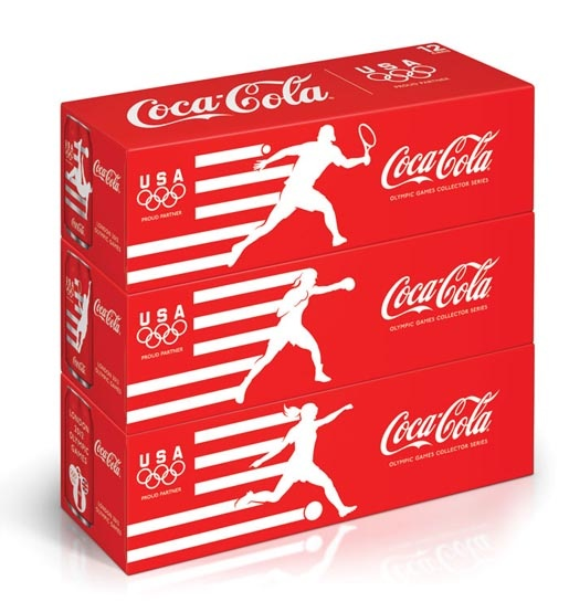Coca Cola London Olympics can packaging