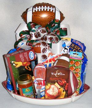 football / sports gift baskets fro boys