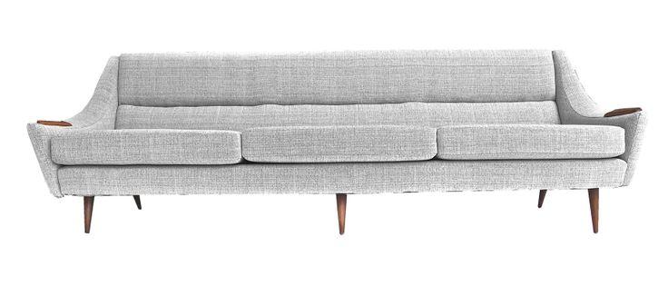 teak sofa, danish, scandinavian, mid century