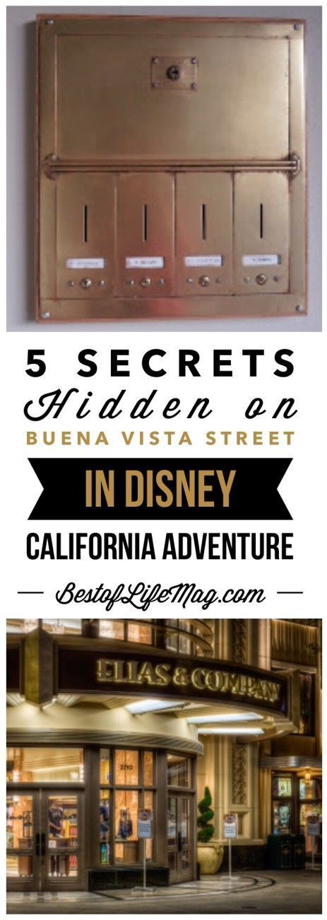 5 Secrets Hidden on Buena Vista Street in Disney California Adventure