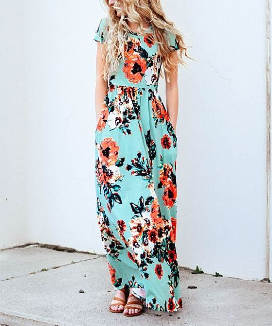 12 Long Floral Dresses To Wear This Summer 2