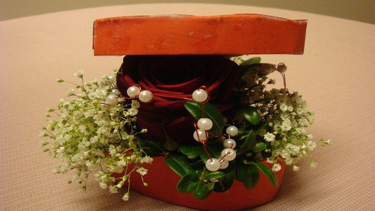 Creative #Valentins Ideas Selbstgemachtes #Valentinsgeschenk   Rose in einer Geschenkbox