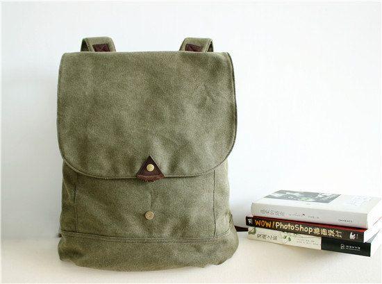 Cuoio Canvas Backpack, zaino, tela di mucca cuoio uomo Borsa Bag, pelle tela valigetta, Messenger bag, borsa del computer portatile, sacchetto di scuola, BB1300003