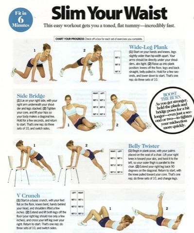 6 Minute Waist Workout.   #exercise  #workout