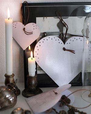 Klip selv: Smukke hvide hjerter