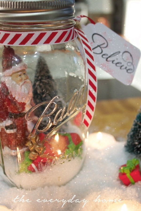 Mason Jar Decorations For Christmas 375 Best Jars For Christmas & Winter Images On Pinterest