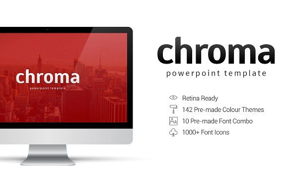 Chroma - PowerPoint Template by everslide on @creativemarket