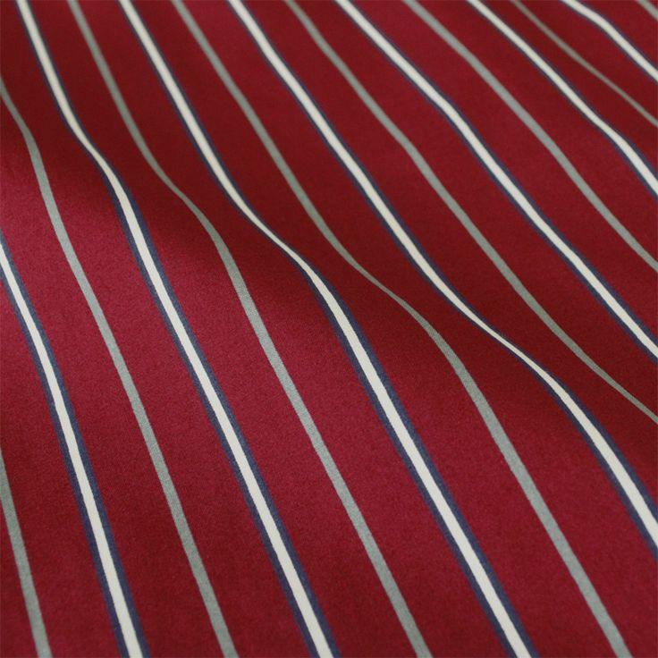 Contare Burgundy Stripe Printed  Featherweight Cotton