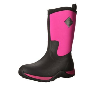 Muck Boot Arctic Weekend Waterproof Insulated Rubber Work Boots Black Pink W5 US