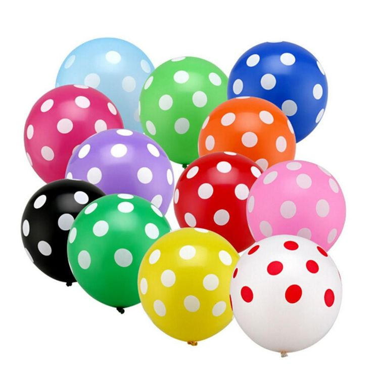 10pcs12 inch dots latex balloons Globos hotel point inflatable birthday party balloon wedding decoration Kids Toys Ball gifts